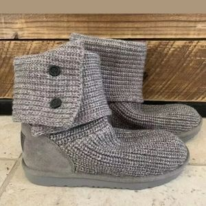 UGG Cardy Knit II Winter Button Boot 1017328K Grey